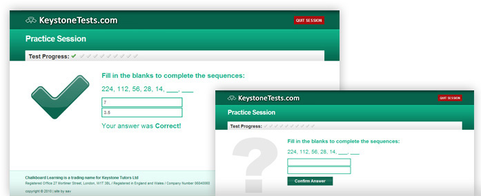 11+ Maths - KeystoneTests.com